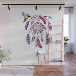 Colorful dream catcher on arrow Wall Mural