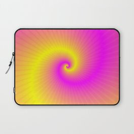 Pink and Yellow Spiral Laptop Sleeve
