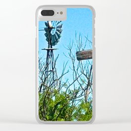 Windmills Clear iPhone Case