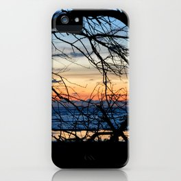 Tree Silhouette Against the Sunset iPhone Case