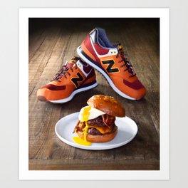 Burgers, Brioche, Bacon and Balances Art Print