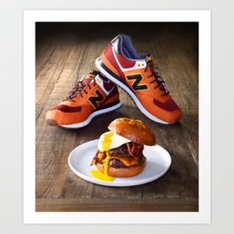 Burgers, Brioche, Bacon and Balances Art Print