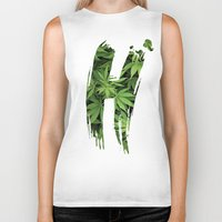 marijuana Biker Tanks featuring Marijuana H by Spyck