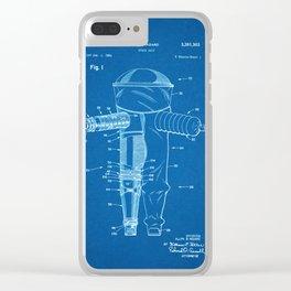 1968 Space Suit Hazard Suit - Blueprint Style Clear iPhone Case