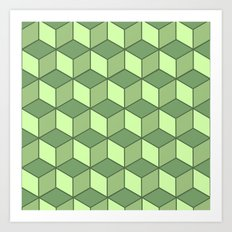 Lime cubes Art Print
