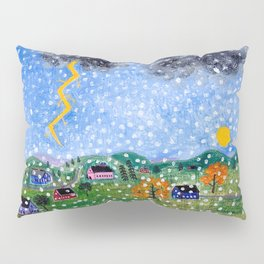 Vermont Weather Report Pillow Sham