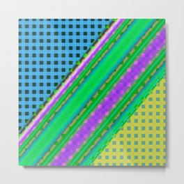 Plaid design Modern WR Metal Print