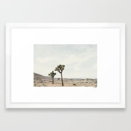trees of joshua Framed Art Print