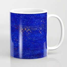 V11 Calm Blue Printed of Original Traditional Moroccan Carpet Coffee Mug
