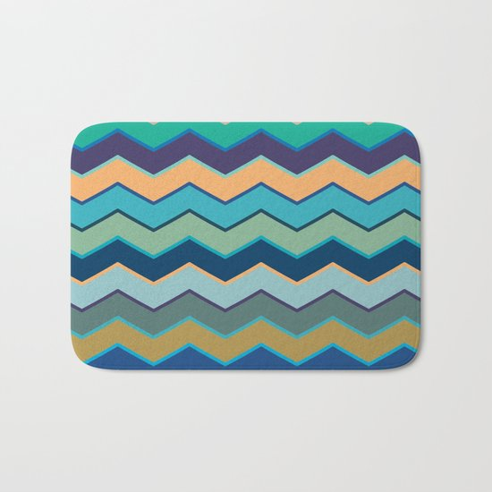 Colorful Wave II Bath Mat