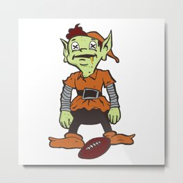 Zombie Brownie Metal Print