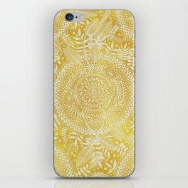 Medallion Pattern in Mustard and Cream iPhone Skin