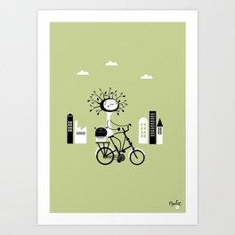 NenatreeBike Art Print
