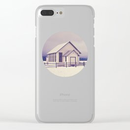 Old Rural Schoolhouse in Winter Clear iPhone Case