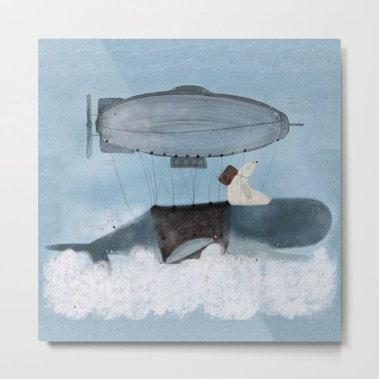 barney and the whale Metal Print