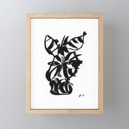 Zebra - Fusion of pen strokes Framed Mini Art Print