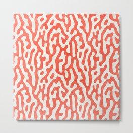 Living Coral Organic Pattern 2 Metal Print