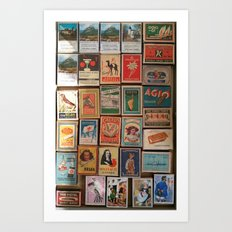 Marvelous Matchboxes Art Print