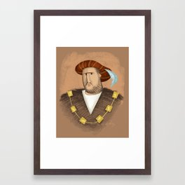 Henry & His Wives Framed Art Print