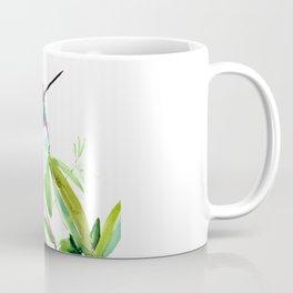 Hummingbird and Green Foliage, tropical green design Coffee Mug