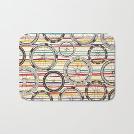bike wheels stripe Bath Mat