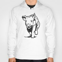 running Hoodies featuring Running PIG by ARTito