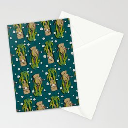 Significant otters teal Stationery Cards