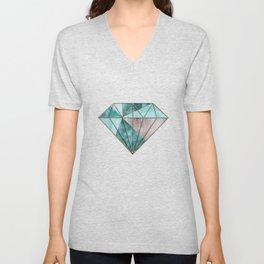 Gemstone And Geode Triangles Unisex V-Neck