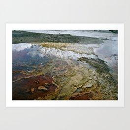 Glass Water Art Print