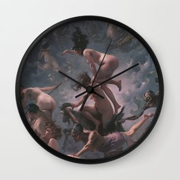WITCHES GOING TO THEIR SABBATH / THE DEPARTURE OF THE WITCHES - LUIS RICARDO FALERO Wall Clock
