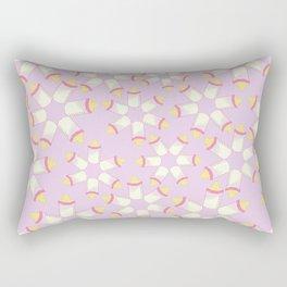 Baby Bottle Pink Pattern Rectangular Pillow