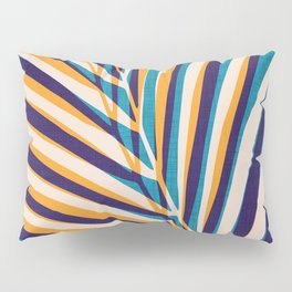 Gold and Navy Abstract Palm Frond Pillow Sham
