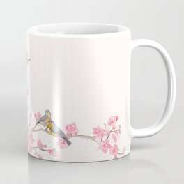 Birds and cherry blossoms Coffee Mug