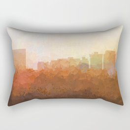 Newport News, Virginia Skyline- In the Clouds Rectangular Pillow