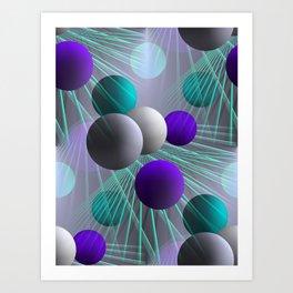 crazy lines and balls -2- Art Print