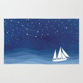 big dipper, sailboat Rug