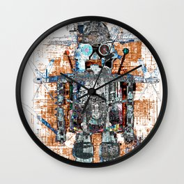 Awesome Giant Robot with Cat Wall Clock
