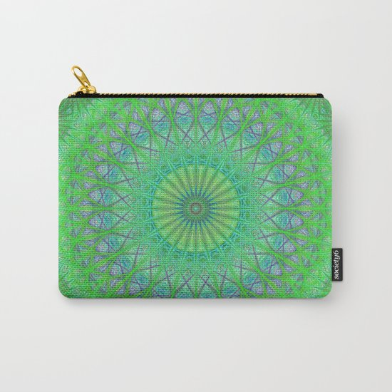 Green web mandala Carry-All Pouch