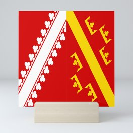 flag of alsace Mini Art Print