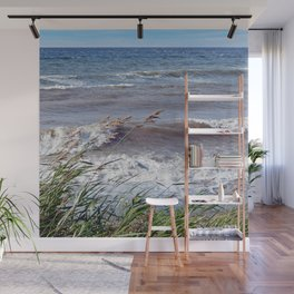 Waves Rolling up the Beach Wall Mural