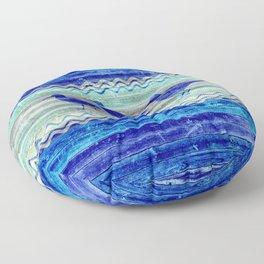 Rustic Navy Blue Coastal Decor Sandpipers Floor Pillow