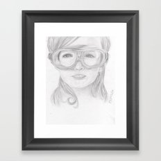 Goggles Girl  Framed Art Print