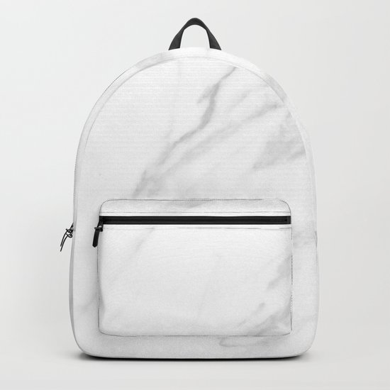 Classic White Marble Backpack