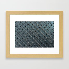 Wire and glass background texture pattern close detail Framed Art Print