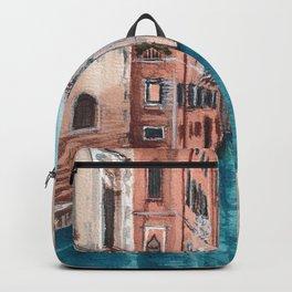 Venice between buildings Backpack