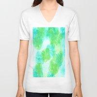 hydrangea V-neck T-shirts featuring hydrangea by Kim Codner Designs