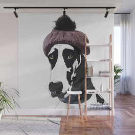 Hipster Great Dane Wall Mural