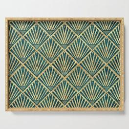Stylish geometric diamond palm art deco inspired Serving Tray