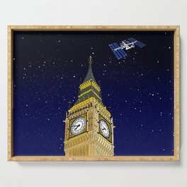 London Big Ben Full of Stars Serving Tray