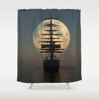 ship Shower Curtains featuring Ship by samedia